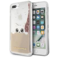 Karl Lagerfeld K-Peek A Boo - Etui iPhone 8 Plus / 7 Plus (Glitter Pink Gold)