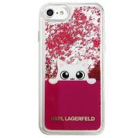 Karl Lagerfeld K-Peek A Boo - Etui iPhone 8 / 7 (Glitter Fushia)