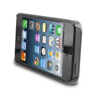 PURO Fog Cover - Etui iPhone SE / iPhone 5s / iPhone 5 (czarny/przezroczysty)