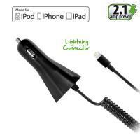 PURO Ładowarka samochodowa Apple 2.1A złącze Lightning MFi (czarny)