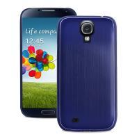 PURO Metal Cover - Etui Samsung GALAXY S4 + folia (niebieskie)