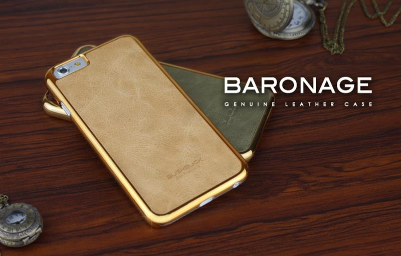 BUSHBUCK BARONAGE Classical Edition - Etui skórzane do iPhone 6s / iPhone 6 (morelowy)