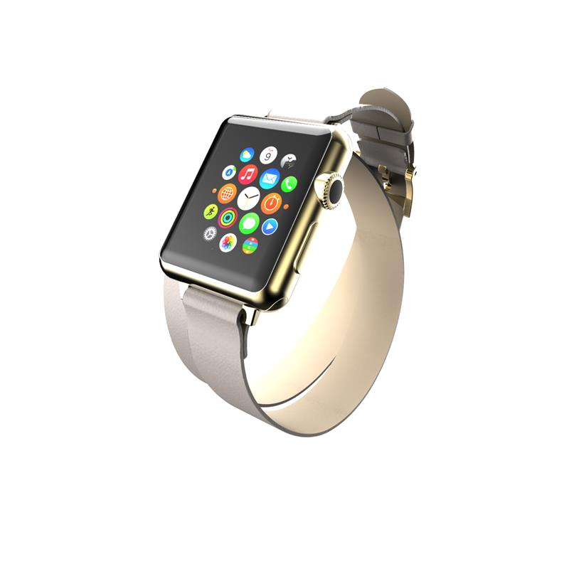 Incipio Reese Double Wrap - Skórzany pasek do Apple Watch 38mm (taupe)