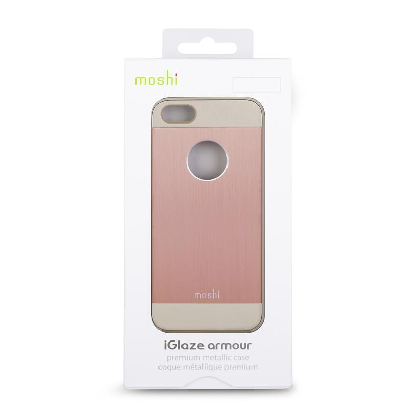 Moshi iGlaze Armour - Etui aluminiowe iPhone SE / iPhone 5s / iPhone 5 (Golden Rose)