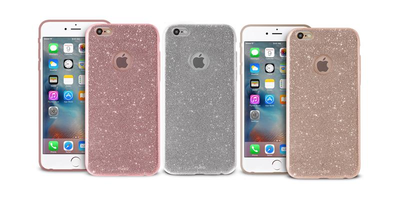 PURO Glitter Shine Cover - Etui iPhone 6s Plus / iPhone 6 Plus (Silver)