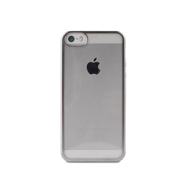 PURO Satin Cover - Etui iPhone SE / iPhone 5s / iPhone 5 (Silver)