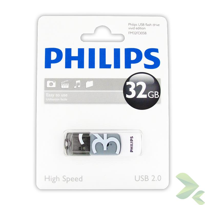 Philips Pendrive USB 2.0 32GB - Vivid Edition (szary)