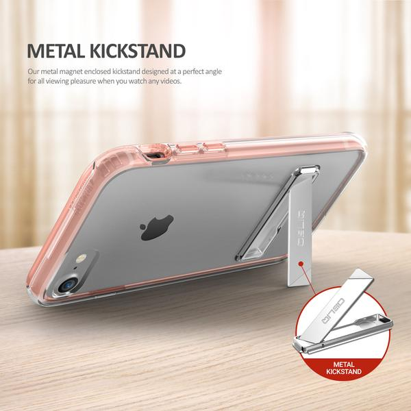 Obliq Naked Shield Kickstand - Etui z podstawką iPhone 7 (Rose Gold)
