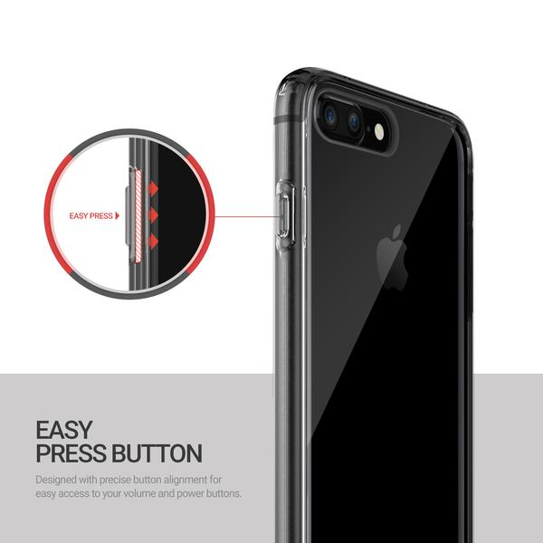 Obliq Naked Shield - Etui iPhone 8 Plus / 7 Plus (Smoky Black)