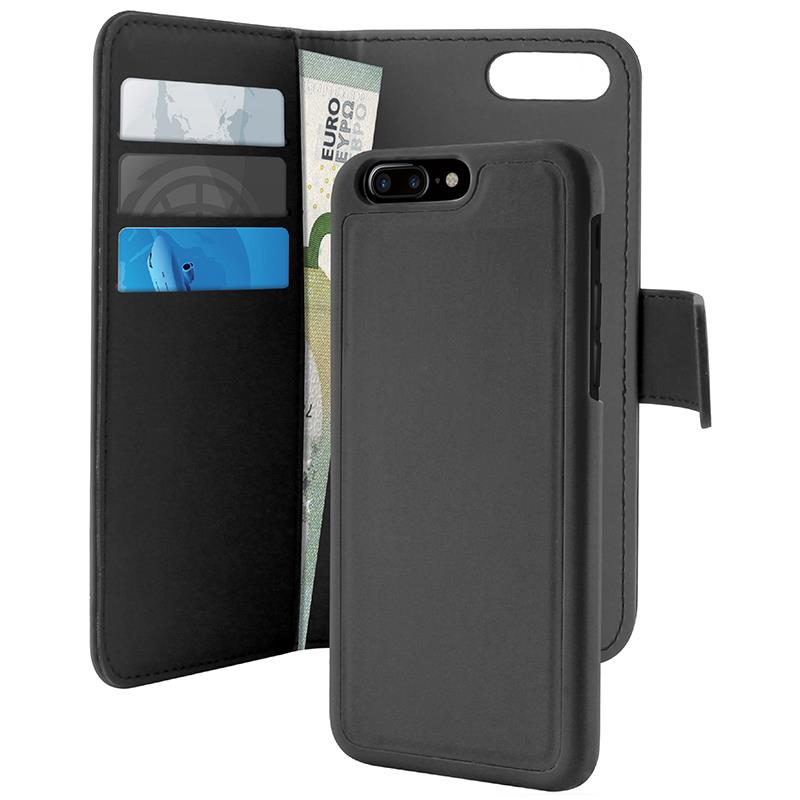 PURO Wallet Detachable - Etui 2w1 iPhone 8 Plus / 7 Plus / 6s Plus / 6 Plus (czarny)