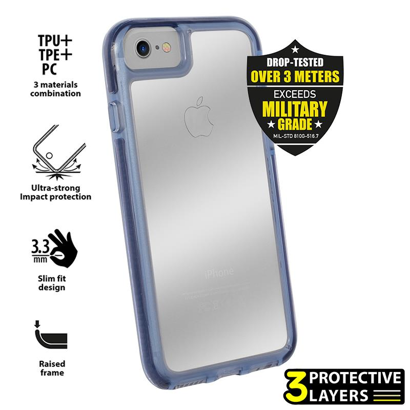 PURO Impact Pro Hard Shield - Etui iPhone 8 / 7 (granatowy)