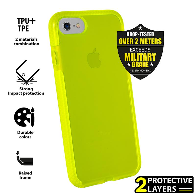 PURO Impact Pro Flex Shield - Etui iPhone 8 / 7 (limonkowy)