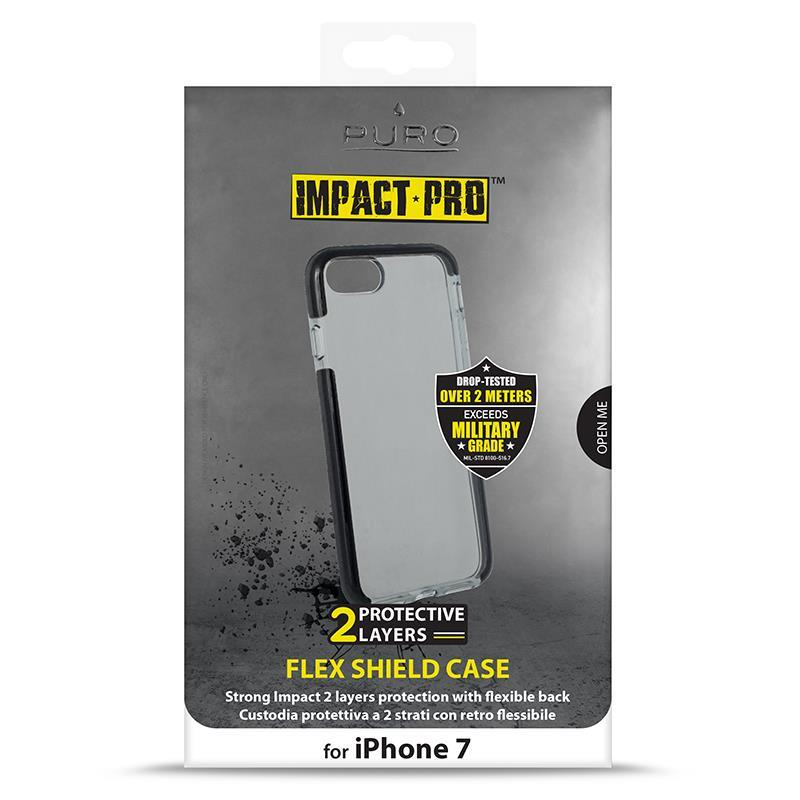 PURO Impact Pro Flex Shield - Etui iPhone 8 / 7 (czarny)