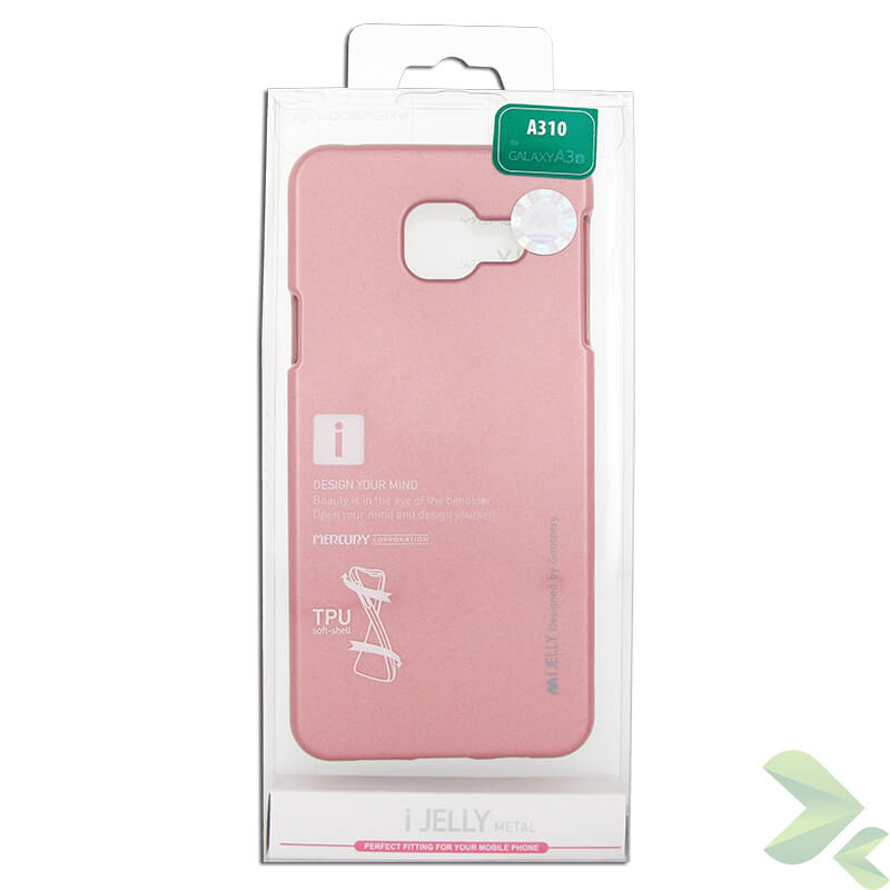 Mercury I-Jelly - Etui Samsung Galaxy A3 (2016) (Rose Gold)