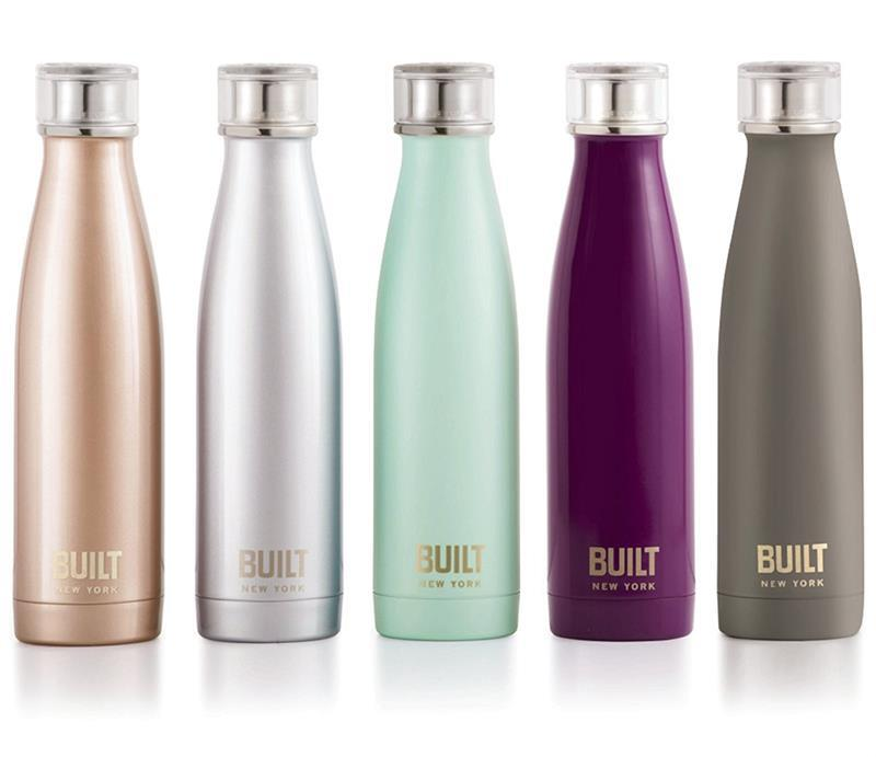 BUILT Perfect Seal Vacuum Insulated Bottle - Stalowy termos próżniowy 0,5 l (Mint)