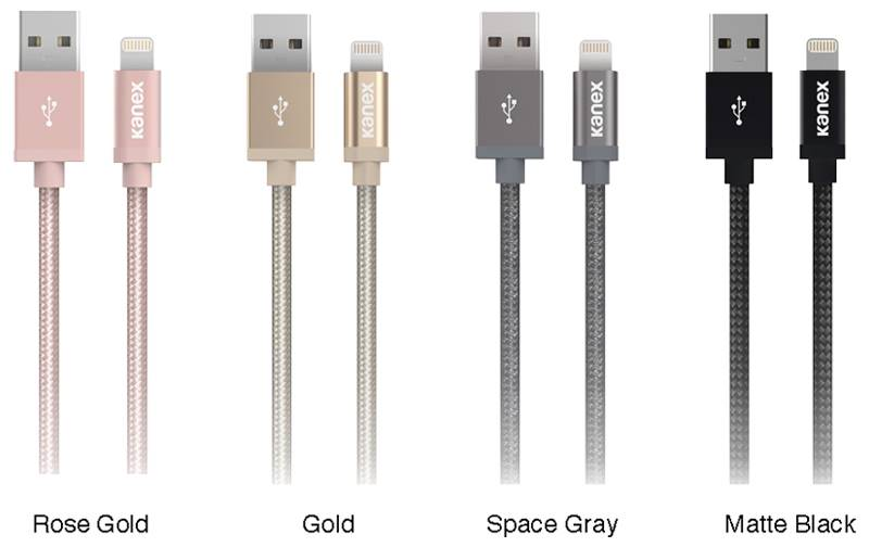 Kanex MiColor Premium Lightning - Kabel MFi z Lightning do USB, 2 m (Space Grey)