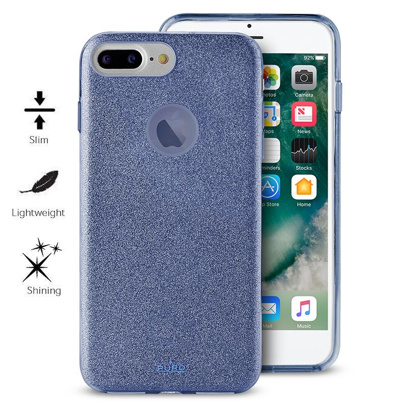 PURO Glitter Shine Cover - Etui iPhone 8 Plus / 7 Plus / 6s Plus / 6 Plus (Blue) Limited edition