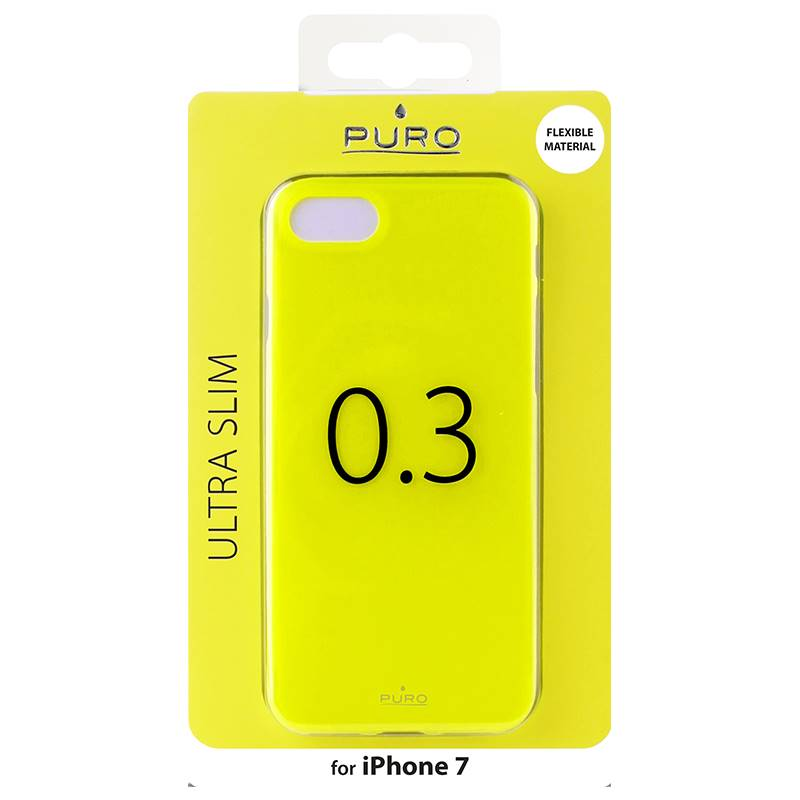 "PURO Ultra Slim ""0.3"" Cover - Etui iPhone 8 / 7 (limonkowy)"
