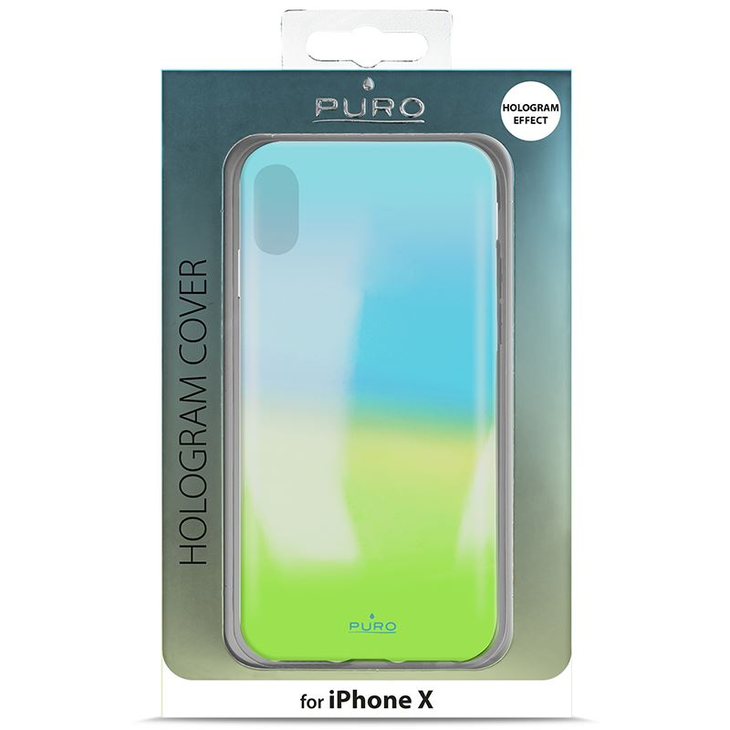 PURO Hologram Cover - Etui iPhone X (Light Blue)