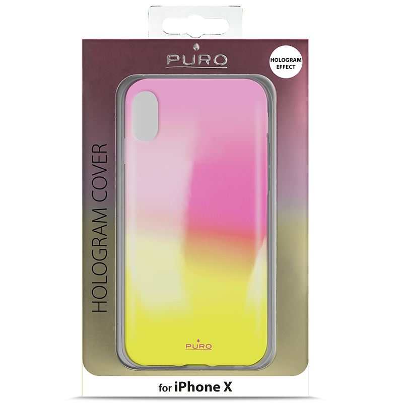 PURO Hologram Cover - Etui iPhone X (Orange)