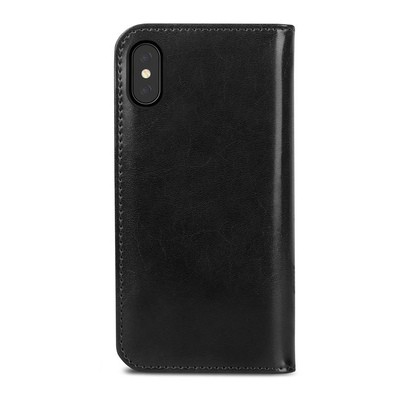 Moshi Overture - Etui iPhone Xs / X z kieszeniami na karty + stand up (Charcoal Black)