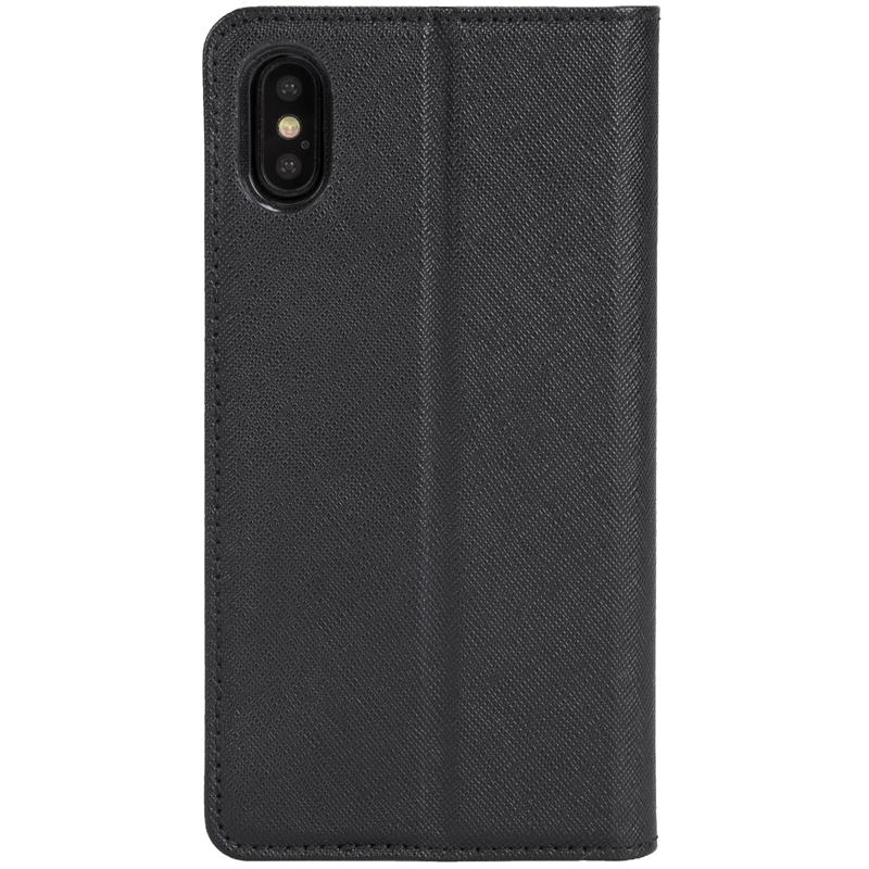 Krusell Malmo 4 Card Foliocase - Etui iPhone X z kieszeniami na karty + stand up (czarny)
