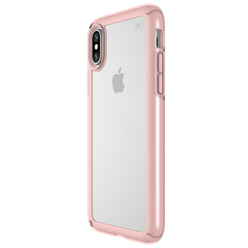 Speck Presidio Show - Etui iPhone X (Clear/Rose Gold)