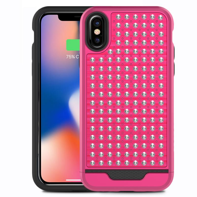 Zizo Star Diamond Hybrid Cover - Etui iPhone X (Pink/Black)