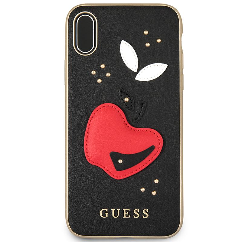 Guess Fruitistic - Etui iPhone X (czarny)