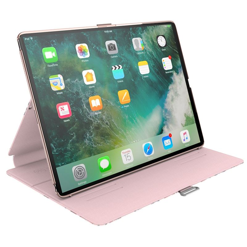 "Speck Balance Folio Print - Etui iPad 9.7"" (2018/2017) / iPad Pro 9.7"" / iPad Air 2 / iPad Air w/Magnet & Stand up (Lillymodern Rose Gold/Crepe Pink/Cathedral Green)"