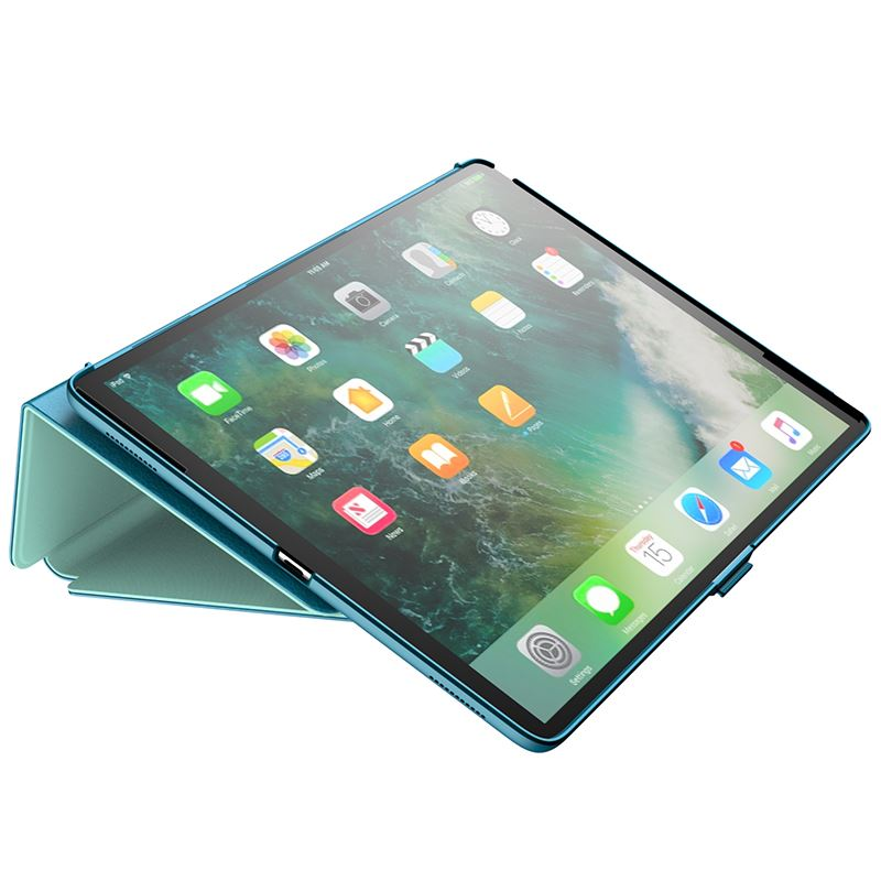 "Speck Balance Folio - Etui iPad 9.7"" (2018/2017) / iPad Pro 9.7"" / iPad Air 2 / iPad Air w/Magnet & Stand up (Breeze Blue/Citron Green)"