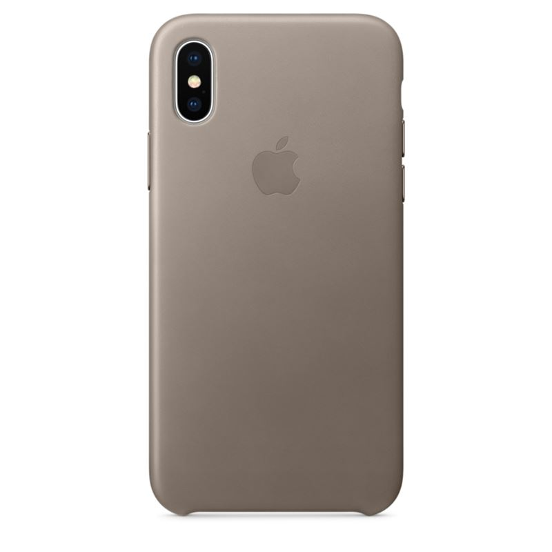 Apple Leather Case - Skórzane etui iPhone X (jasnobeżowy)