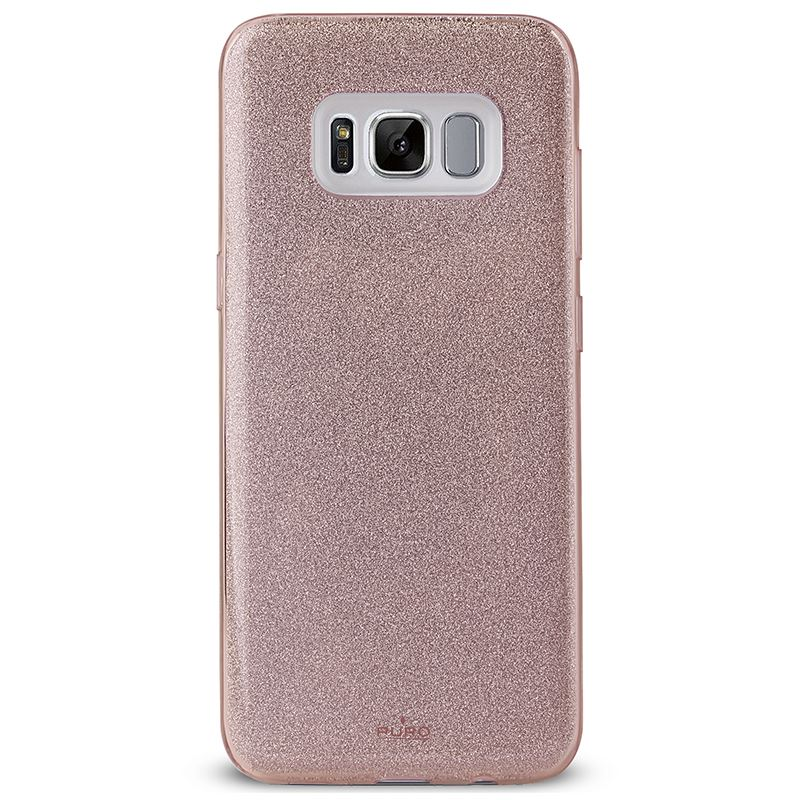 PURO Glitter Shine Cover - Etui Samsung Galaxy S8+ (Rose Gold)