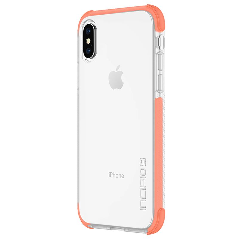 Incipio Reprieve SPORT - Etui iPhone X (Coral/Clear)