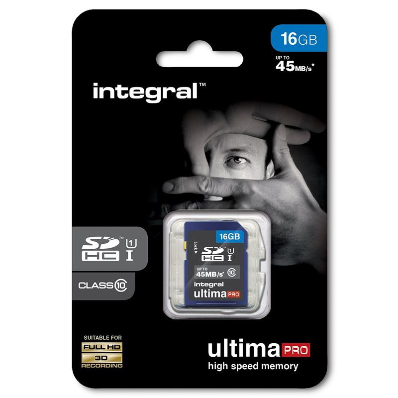 Integral UltimaPro - Karta pamięci 16GB SDHC/XC 45MB/s Class 10 UHS-I U1
