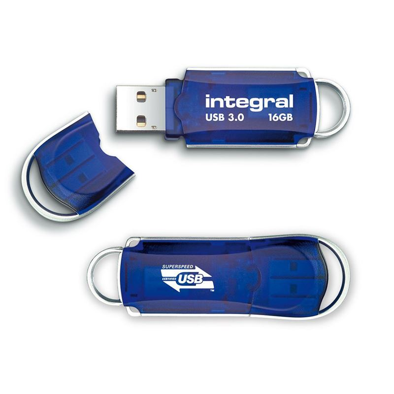 Integral Courier USB 3.0 Flash Drive - Pendrive USB 3.0 16GB 140/22 MB/s