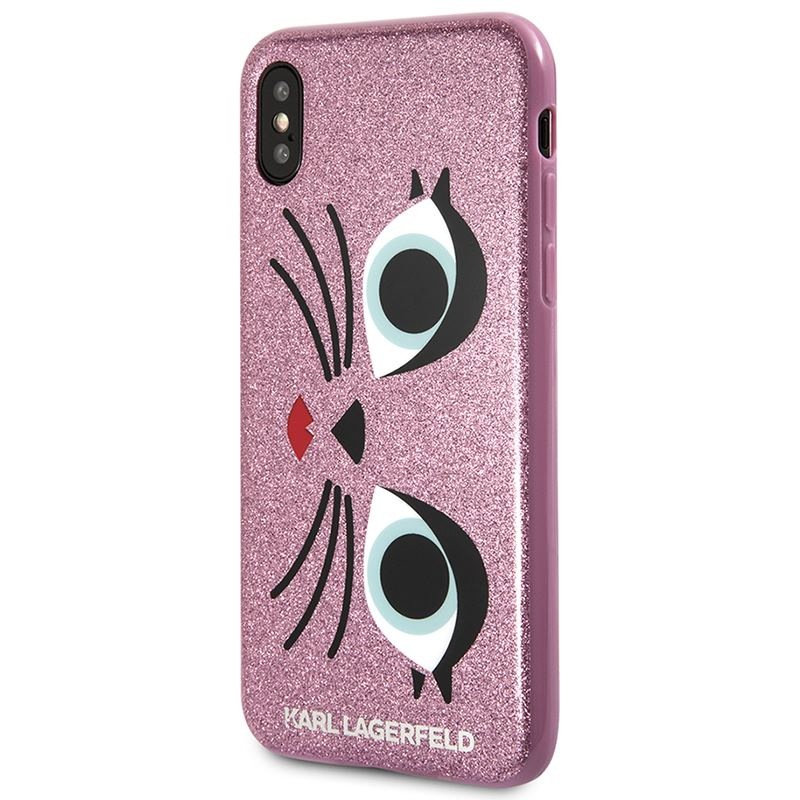 Karl Lagerfeld K-Paris Case - Etui iPhone X (Glitter Pink)