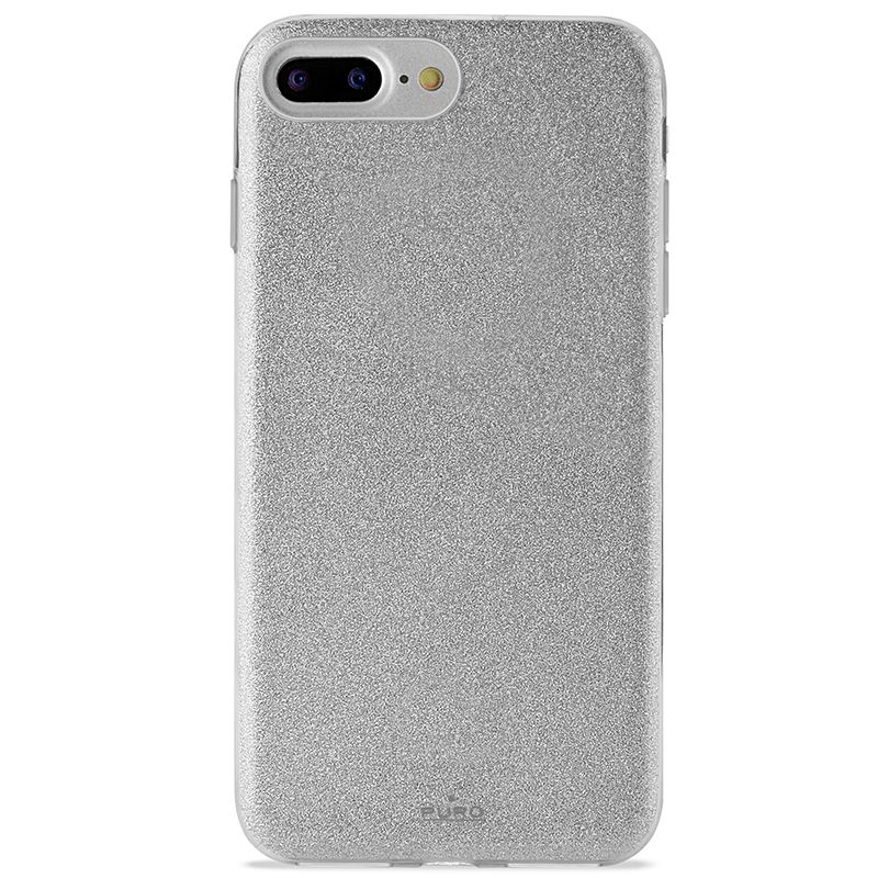 PURO Glitter Shine Cover - Etui iPhone 8 Plus / 7 Plus / 6s Plus / 6 Plus (Silver) Limited edition