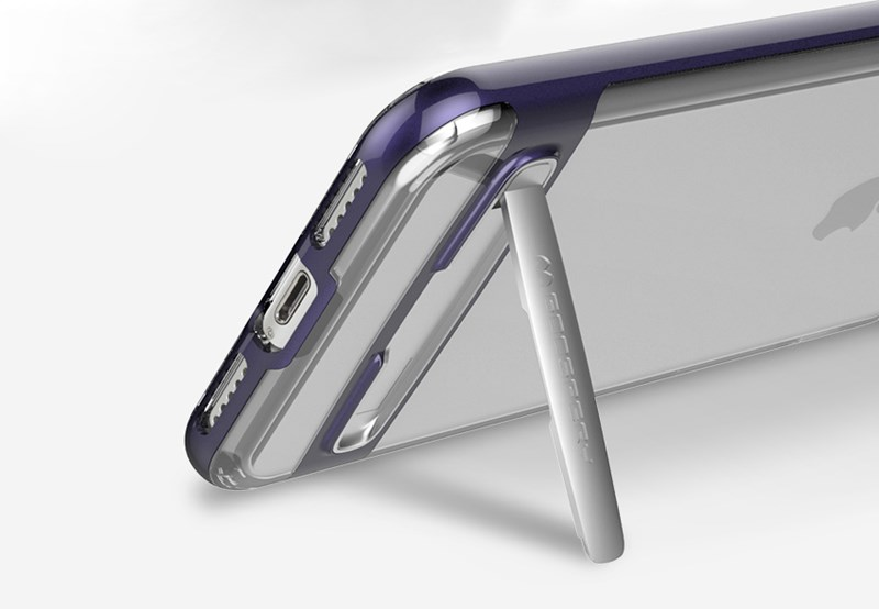 Mercury Dream Bumper - Etui iPhone 8 Plus / 7 Plus z metalową podstawką (srebrny)