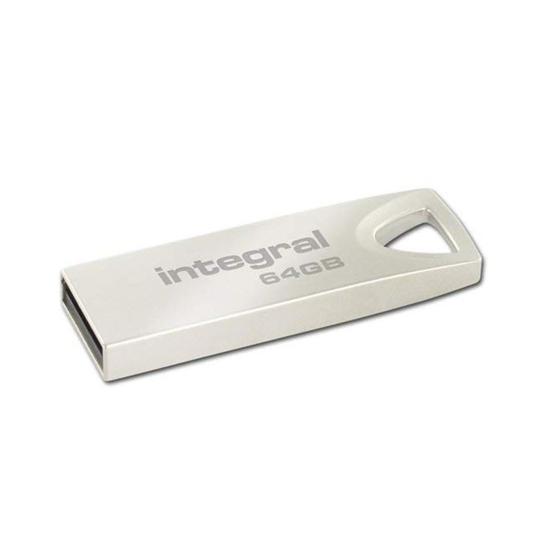 Integral Metal ARC USB 2.0 Flash Drive - Metalowy pendrive USB 2.0 64GB