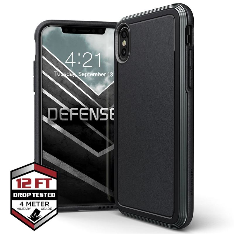 X-Doria Defense Ultra - Pancerne etui iPhone Xs / X (Drop test 4m) (Black)