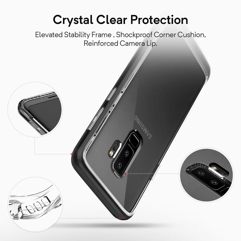 Caseology Skyfall Case - Etui Samsung Galaxy S9+ (Black)