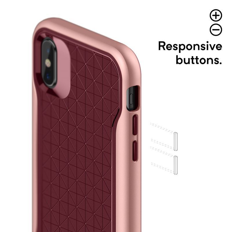 Caseology Apex Case - Etui iPhone Xs / X (Burgundy)