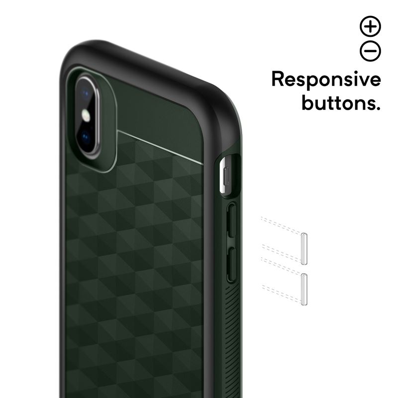Caseology Parallax Case - Etui iPhone Xs / X (Pine Green)