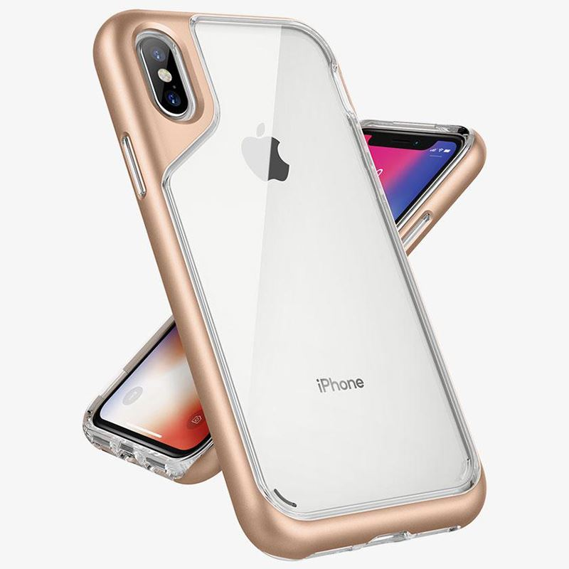 Caseology Skyfall Case - Etui iPhone Xs / X (Gold)