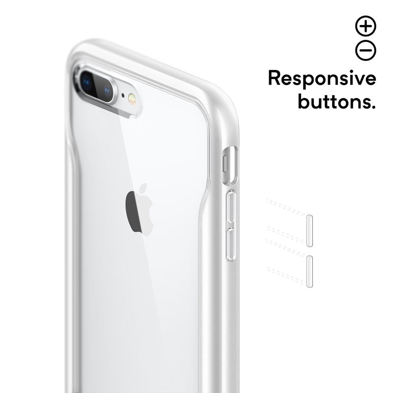 Caseology Apex Clear Case - Etui iPhone 8 Plus / 7 Plus (White)