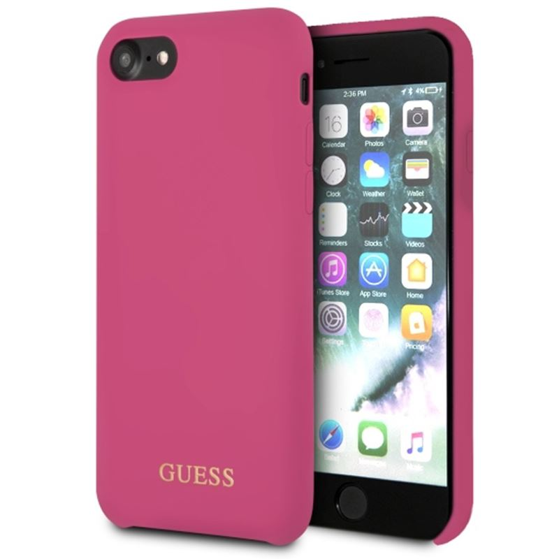 Guess Silicone - Etui iPhone 8 / 7 (rózowy)
