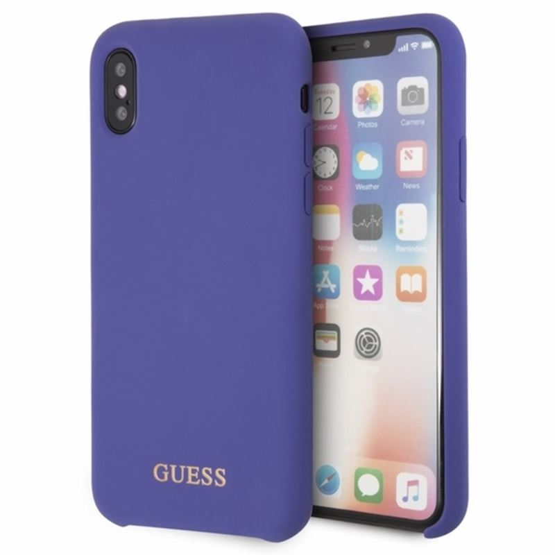 Guess Silicone - Etui iPhone Xs / X (Purple)