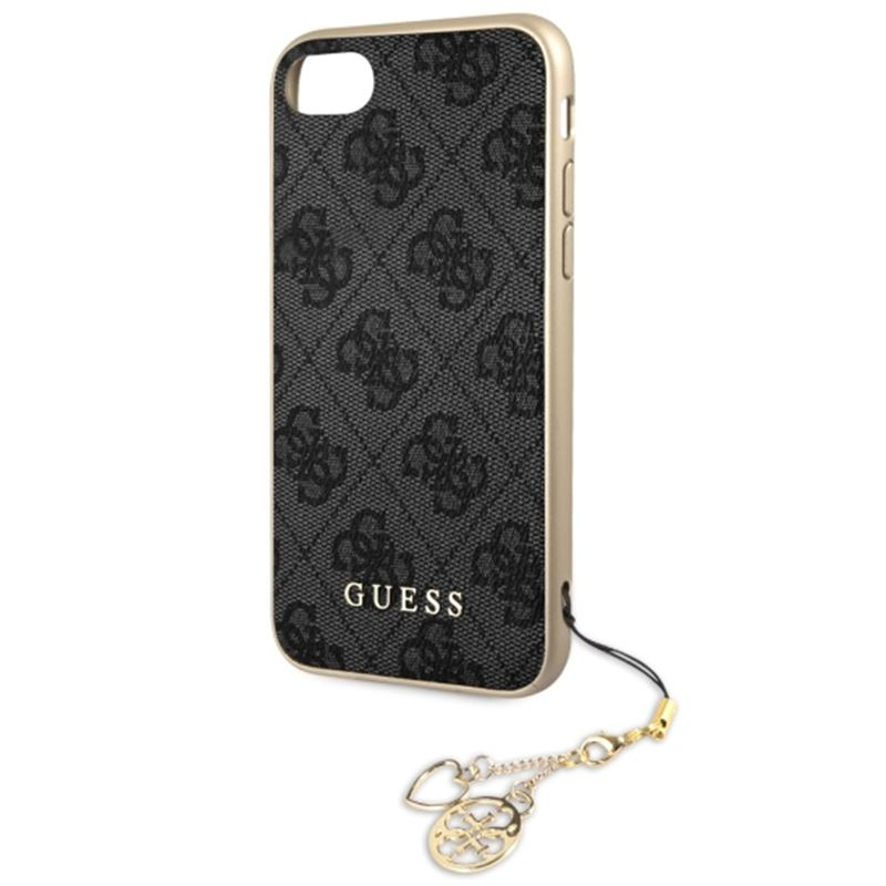Guess 4G Charms Collection - Etui iPhone 8 / 7 z zawieszką (szary)