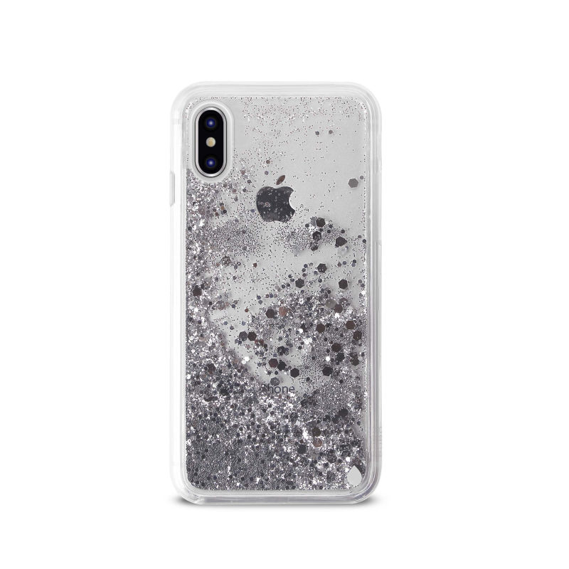PURO Aqua Winter Cover - Etui iPhone Xs / X (Silver)